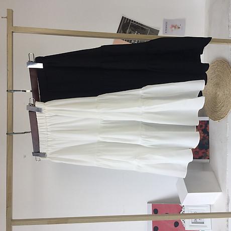 Chân váy xòe 2 tầng cạp chun dáng dài vải voan 2 lớp freesize xinh xắn thoải mái 7