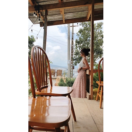 Chân Váy Nữ Hoa Xoè Eo Bo Chun Phía Sau 5