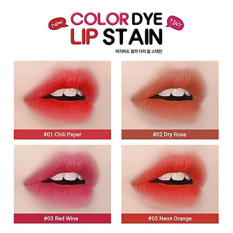 Son kem lì lên màu chuẩn, lâu trôi Hàn Quốc Lagivado Color Dye Lip Stain dạng nước 4,5 gram 04 màu son 3