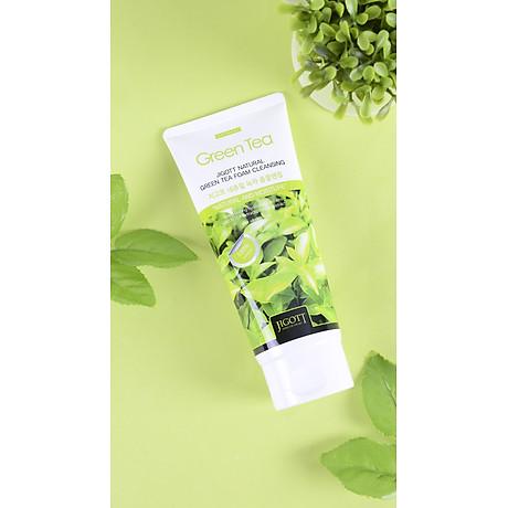 Sữa Rửa Mặt Trà Xanh Jigott Natural Green Tea Foam Cleansing 4