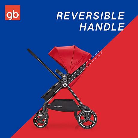 Xe đẩy em bé GB Swan Basic - Đỏ 5