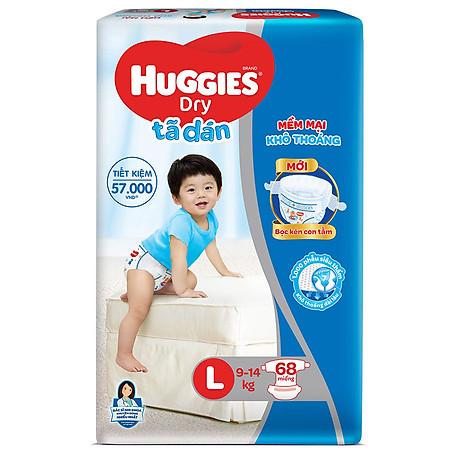 Tã Dán Huggies Dry Gói Cực Đại L68 (68 Miếng) - Bao Bì Mới 3