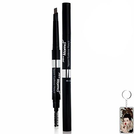 Chì mày định hình Mira Aroma Square Eyebrow Pencil tặng kèm móc khoá 1