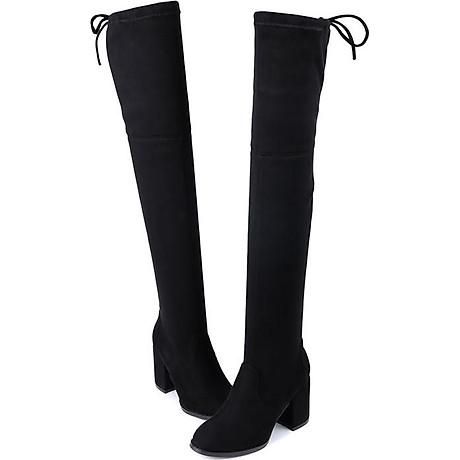 Giày bốt nữ cổ cao qua gối cao 6cm da lộn GCC1901 4