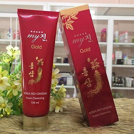 Sữa rửa mặt chống lão hoá hồng sâm My Gold Korea Red Gingseng 130ml Tặng Móc khoá 8