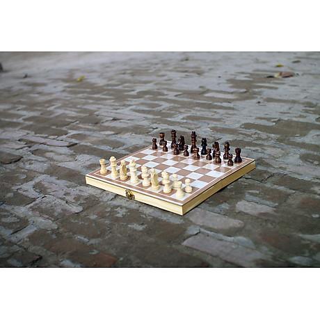 Bộ cờ vua gỗ cho trẻ em, đồ chơi giáo dục vận động an toàn giúp bé thông minh từ nhỏ 2