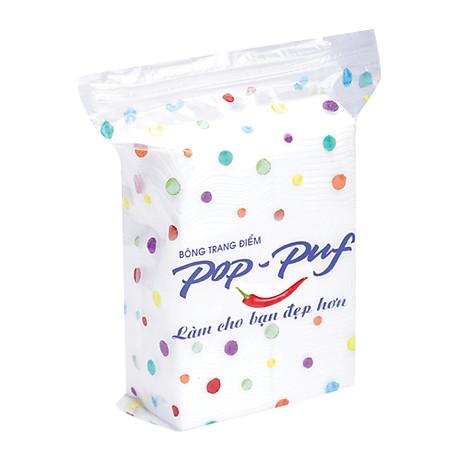 Bông Trang Điểm Pop-puf bao Ziper (100 miếng) , giao mẫu ngẫu nhiên 2