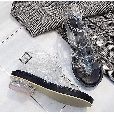 Giày sandal quai trong đế thấp phong cách gladiator S373 5
