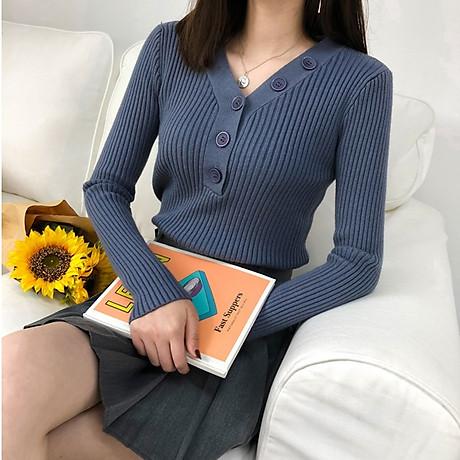 Áo len nữ phối dãy cúc cách điệu Haint Boutique al59 2