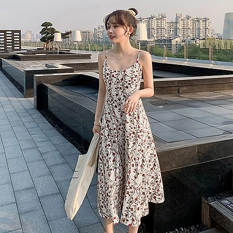 Váy 2 dây dáng dài, chất liệu vải cao cấp nhẹ nhàng thoáng mát,phù hợp đi biển đi chơi ngày hè 4