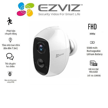 Camera IP Wifi ngoài trời EZVIZ C3A FHD 1080P - Dùng Pin Sạc - đàm thoại 2 chiều - hàng chính hãng 2