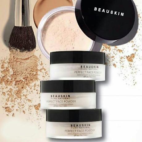 Phấn phủ bột Beauskin Perfect Face Powder Hàn Quốc 30g 21 Natural Beige tặng kèm móc khoá 8