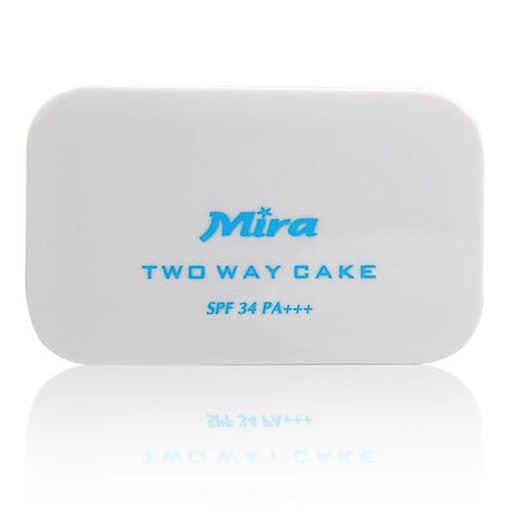 Phấn nén trang điểm siêu mịn Mira Two Way Cake Hàn Quốc 12g No.21 Cream Beige tặng kèm móc khoá 8