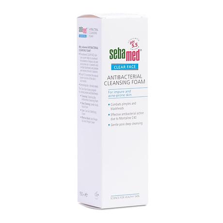 Sữa rửa mặt tạo bọt kháng khuẩn giảm mụn Sebamed Cleansing Foam 150ml 3