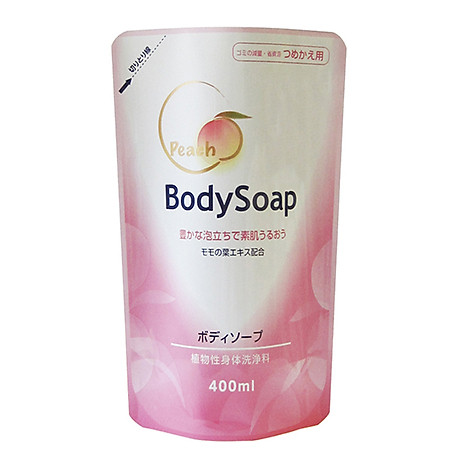 Sữa Tắm DAIICHI Nhật Bản Tinh Chất Đào Dưỡng Trắng, Làm Khỏe Da 400ML Dạng túi 1