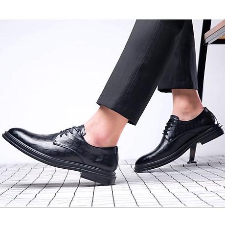 Giày da giày da nam cao cấp độn đế giày tăng chiều cao mã 36800-G đế cao 6cm 5