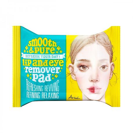 Khăn Giấy Tẩy Trang Mắt Môi Ariul Stress Relieving Purefull Lip & Eye Remover Pad (30 Miếng) 1