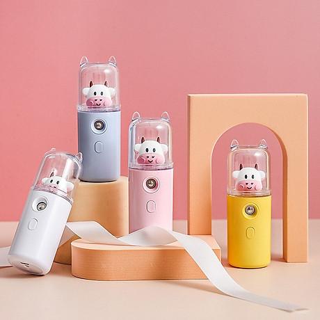 Máy Phun Sương Nano Mini Cầm Tay Bò Sữa 30ml, Hỗ Trợ Xịt Khoáng Cấp Ẩm, Sạc USB Nhỏ Gọn Tiện Lợi 1