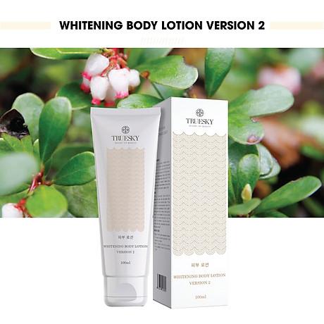 Kem dưỡng trắng da toàn thân Truesky Version 2 dạng lotion thẩm thấu và dưỡng trắng nhanh 100ml - Whitening Body Lotion 2