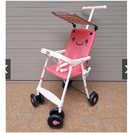 Xe đẩy du lịch (có mái che, phanh chân, bảo hiểm, túi đồ)- màu cho bé trai- chọn màu ngẫu nhiên 4