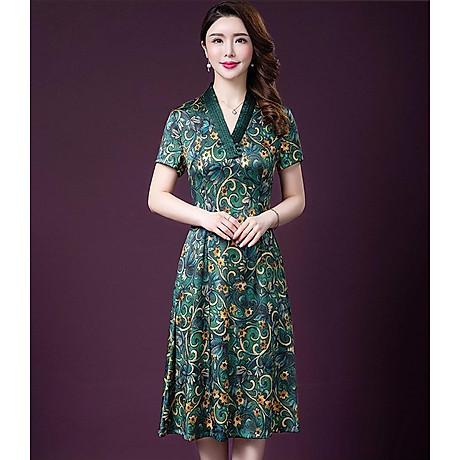 Đầm quý bà lụa Cao Cấp Sang Trọng - HATI DN9046 2