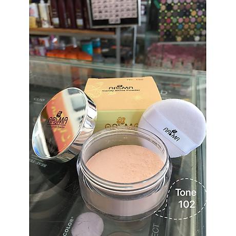 Phấn phủ bột kiềm dầu Aroma Candy Shine Powder Hàn Quốc 10g No.102 Da sáng tặng kèm móc khoá 4