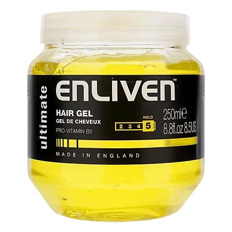 Gel Vuốt Tóc Giữ Nếp Siêu Cứng Enliven Hair Gel Ultimate Độ Cứng 5 5 250ml 1