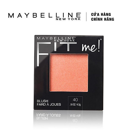 Phấn Má Hồng Mịn Lì Chuẩn Màu Maybelline Fit Me Blush - Màu 40 Peach 4,5g 2