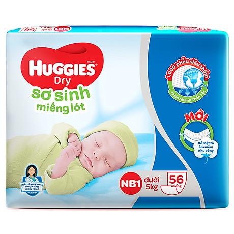 Miếng Lót Sơ Sinh Huggies Dry Newborn 1 - 56 (56 Miếng) - Bao Bì Mới 2