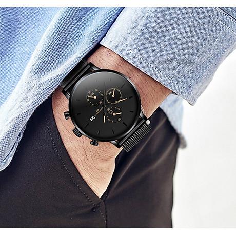 Đồng hồ nam business VINIEL thiết kế economicxi chất liệu dây thép phong cách thanh lịch VE118 Hàng Chính Hãng 4