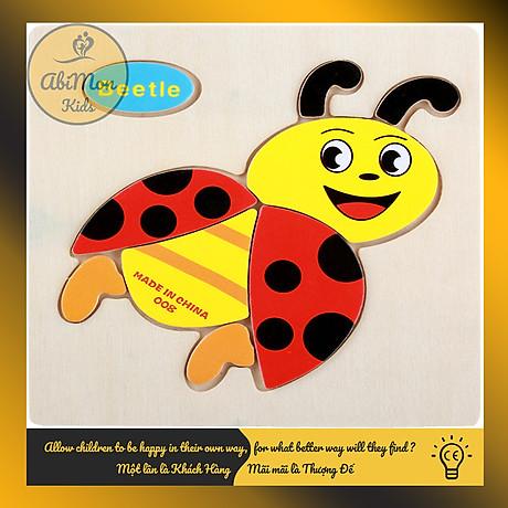 Tranh Ghép Hình Gỗ 3D Cho Bé (15x15 cm) Montessori cao cấp Đồ chơi Gỗ - Giáo dục - An toàn - Thông minh 1
