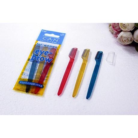 Bộ 3 dao cạo lông mày cán ngắn KAI - Hàng Nội Địa Nhật 1