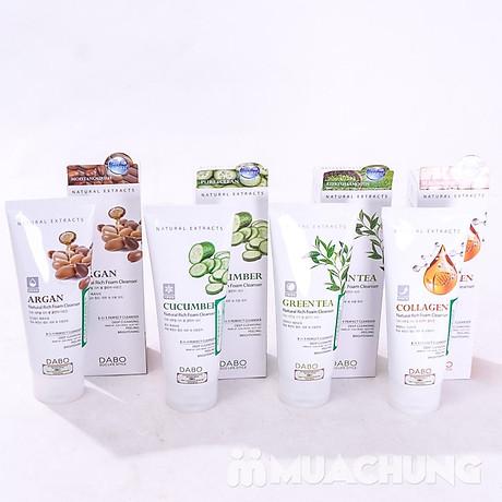 Sữa rửa mặt dưa leo Dabo 3 in 1 Rich Foarm Cleanser Hàn Quốc 180ml + Móc khoá Thebeauty 5