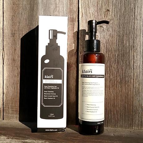 Dầu Tẩy Trang Dear Klairs Gentle Black Deep Cleaning Oil 3