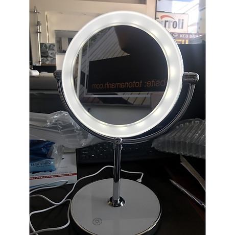 Gương trang điểm đặt bàn led xoay 2 mặt RM160-DL 2