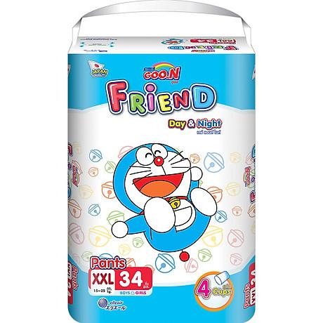 Combo 3 Tã quần Goon Friend Doremon mới gói cực đại XXL34 (15kg 25kg) 2