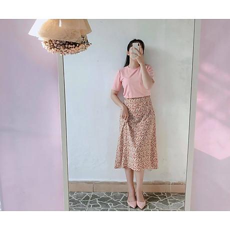 Chân Váy Nữ Hoa Xoè Eo Bo Chun Phía Sau 3