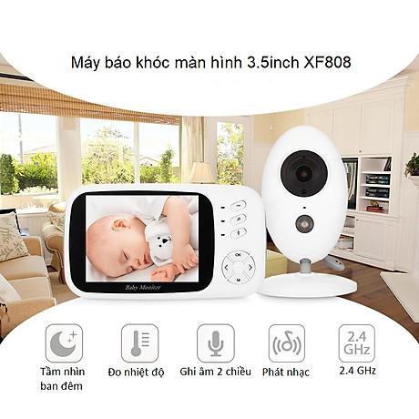 Máy báo khóc màn hình 3.5inch XF80 ( XOAY 360 ĐỘ TIỆN LỢI ) 7