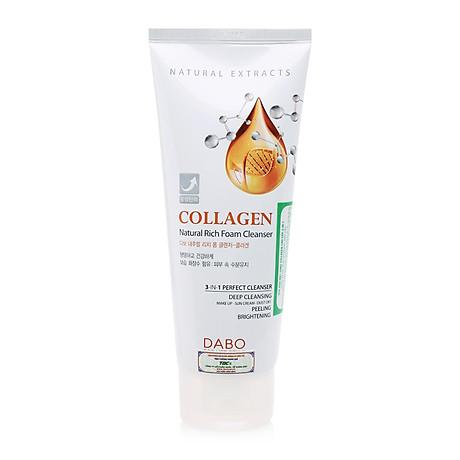 Sữa rửa mặt chống não hoá Dabo Collagen 3 in 1 Hàn Quốc 180ml + Móc khoá 2
