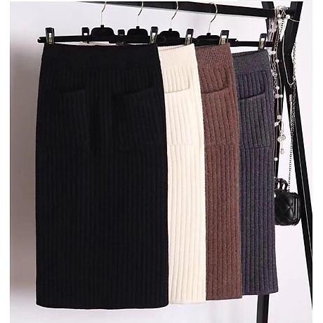 Chân váy bút chì chất len tăm cao cấp form chuẩn kèm quần lót chất thun lạnh ko ngấn 2