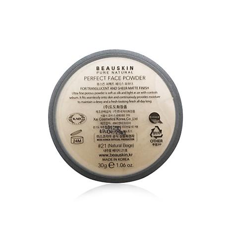 Phấn Bột Kiềm Dầu Và Cân bằng ẩm Beauskin Perfect Face Powder (30g) - 21 - Hàn Quốc Chính Hãng 2