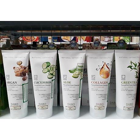 Sữa rửa mặt chống não hoá Dabo Collagen 3 in 1 Hàn Quốc 180ml + Móc khoá 8