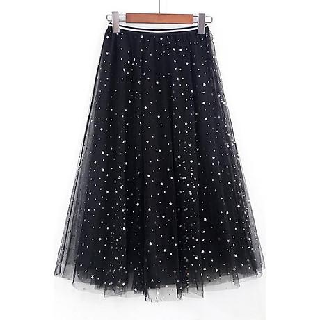 Chân váy maxi dài ren sao Princess 2