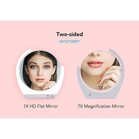 Gương trang điểm đặt bàn led xoay 2 mặt RM259-DL 3