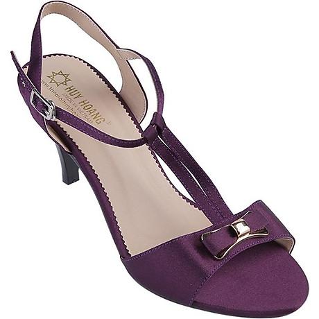 Giày Sandal Nữ Cao Gót Huy Hoàng HT7054 - Tím 1