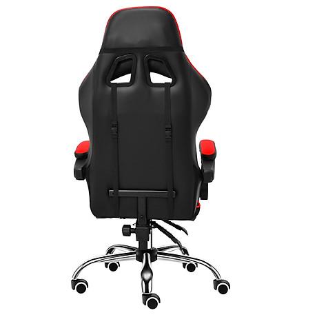 BG Ghế chơi game cao cấp dành cho các game thủ, chân xoay ngã 135 độ Mẫu E02N01 màu đỏ phối đen (Hàng nhập khẩu) 4