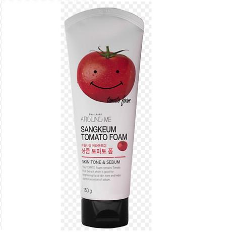 Sữa rửa mặt cà chua Welcos around me tomato foam 150g 1