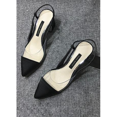 Giày Sandal Cao Gót Quai Da 5
