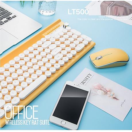 Bộ bàn phím và chuột không dây LT500 (Tặng kèm lót ) 5
