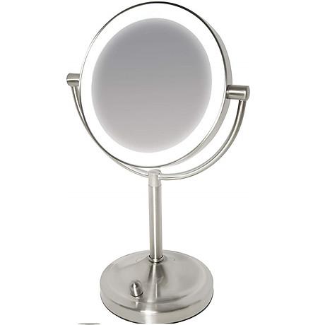 Gương trang điểm 2 mặt USA kèm đèn led điều chỉnh độ sáng HoMedics MIR-8150-EU ,đường kính lớn ,chất liệu Niken cao cấp nhập khẩu USA 1